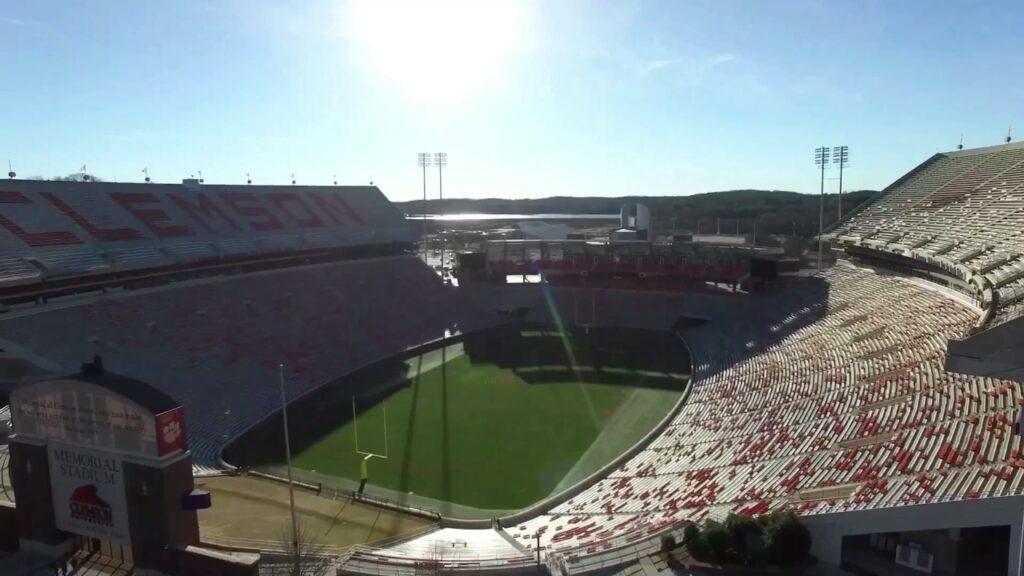 clemson football drone