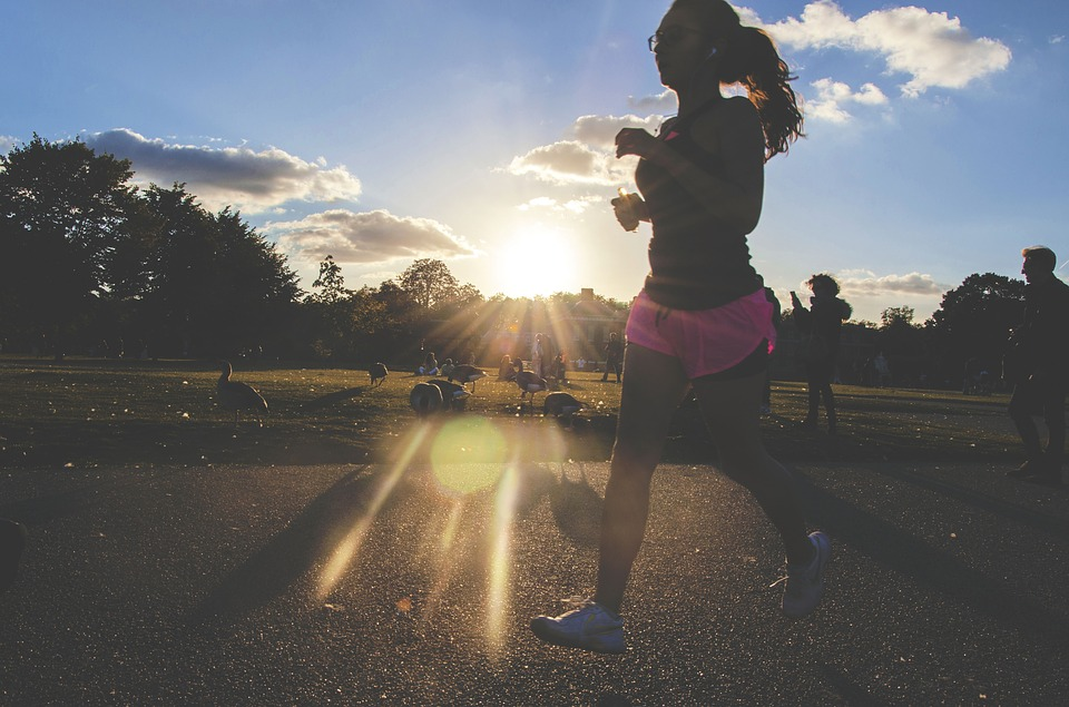 woman jogging after injury